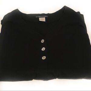 Exofficio cardigan, knit top made in Canada!